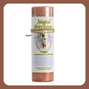 """Magic"" Pillar Candle with Fairy Dust Necklace"