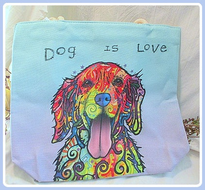 Bow-Wow Jute Tote Bag