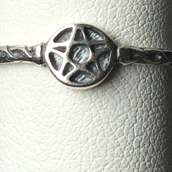Pentagram Sterling Silver Ring
