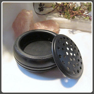 Starry Screen Black Charcoal Incense Burner