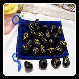 """Many Opportunities"" Black Onyx Rune Set"