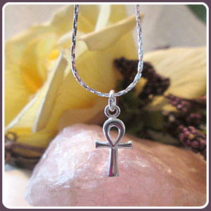 Ankh Cross Sterling Silver Necklace Box Set