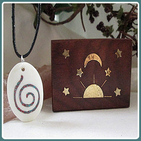 Connection Spiral Amulet & Celestial Jewelry Box Set