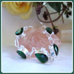 """Vision & Awareness"" Chrome Diopside Sterling Silver Bracelet"