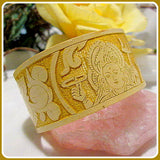 """Mother Goddess"" Durga Bamboo Cuff Bracelet"
