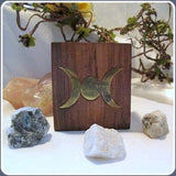 """Inner Growth"" Natural Moonstone Triple Moon Box Set"