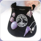 """Stone of Spiritual Growth"" Amethyst Set"