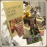 Mabon Gemstone, Resin, Herbal Pendulum Set