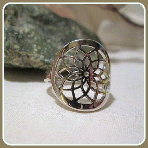 Seed of Life Sterling Silver Ring