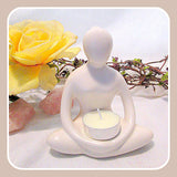 """Meditation"" Yoga Tealight Holder"