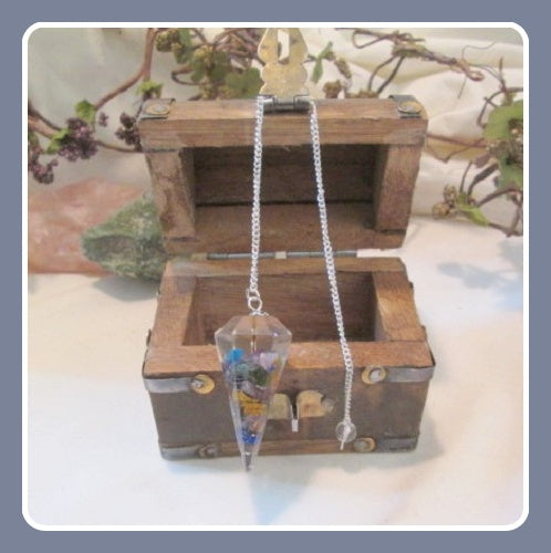 Chakra Orgone Pendulum Treasure Chest