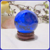 Vibrant Blue Quartz Healing Sphere & Stand 50mm