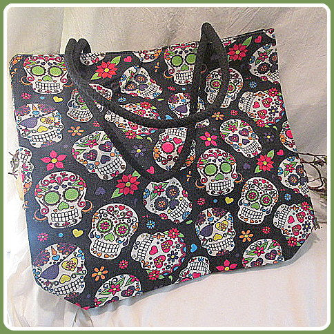Day of the Dead Jute Tote Bag