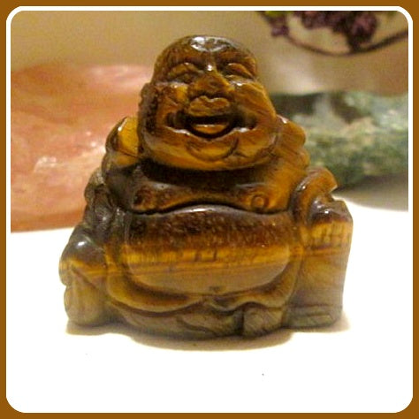 Tigers Eye Laughing Buddha Totem