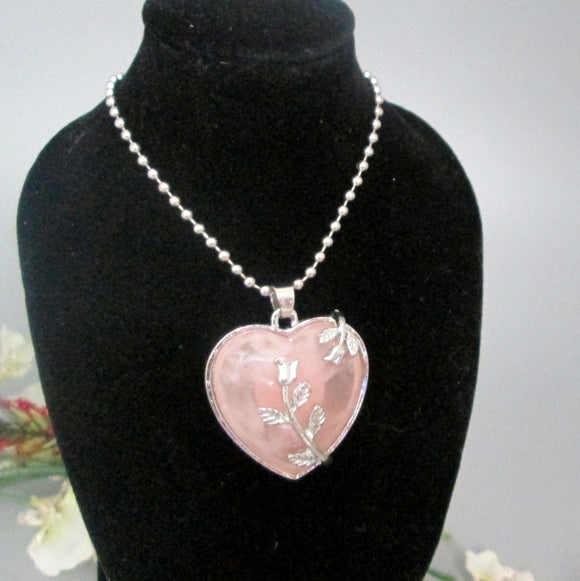 Rose Quart Necklace