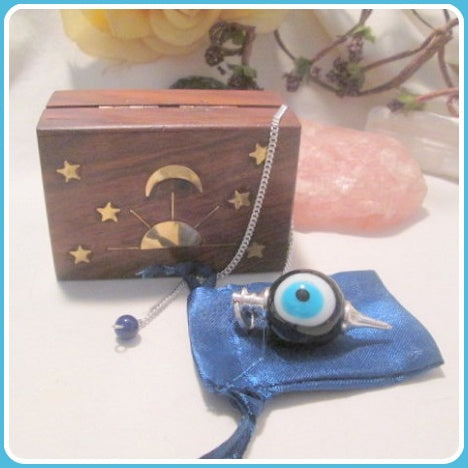 Protective Evil Eye Ball Pendulum Boxed Set