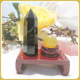 Protection Black Obsidian Point & & Yellow Aventurine Reiki Set