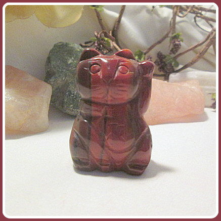 Rebalancing Agate Botswana & Good Fortune Beckoning Money Cat Totem