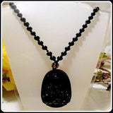 Black Obsidian Samantabhadra Buddha Necklace