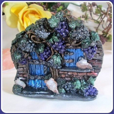 Crystal Geode Vineyard Fairy Door