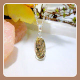 """Believe & You Will Achieve"" Rough Astrophyllite Sterling Silver Pendant Box Set"