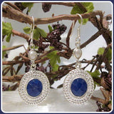 Pure Love Indian Blue Sapphire Pearl Earrings