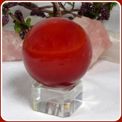 Red Jasper Crystal Ball & Stand 40mm