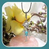 """In Full Union"" London Blue Topaz Pendant  & Chain"