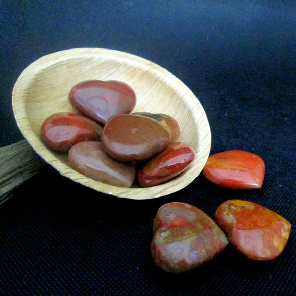 Red Jasper Pocket Heart