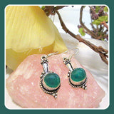 """Pure & Honest"" Green Onyx Earrings"