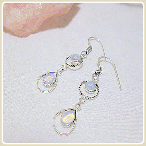 Blockage  Removing Opalite Earrings