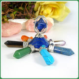 7 Chakra Lapis Point Energy Generator with Merkaba