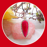 Queen of Passion Red Coral Pendant & Chain