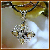 Into Success Golden Citrine Sterling Silver Necklace