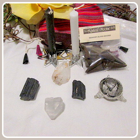 Protection Meditation Gypsy Pouch Set