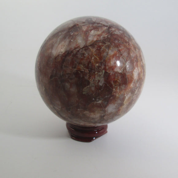 Fire Quartz Sphere & Stand
