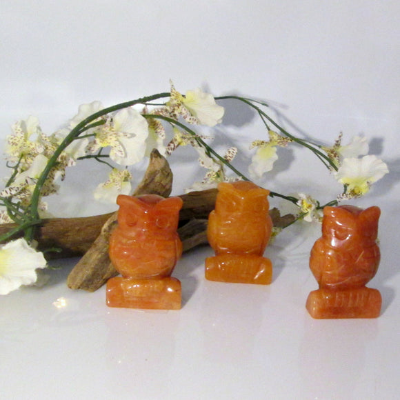 Orange Aventurine Owl