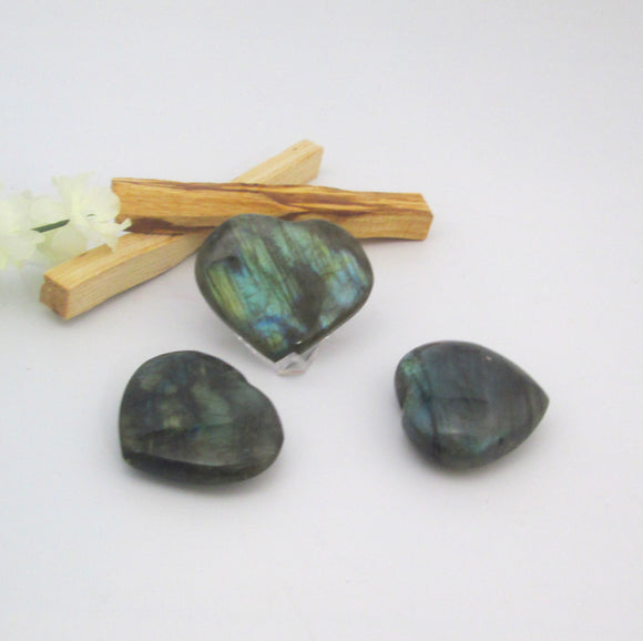 Transformational Labradorite Heart