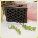 Cleansing Peridot Chip Earrings
