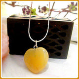 Passion & Success Citrine Heart Necklace