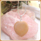 Healing Brown Jasper Heart Necklace