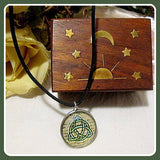 Triquetra Dome Amulet & Celestial  Jewelry Box Set