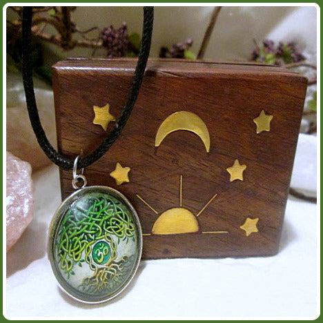 Tree of Life Dome Amulet & Celestial Jewelry Box Set