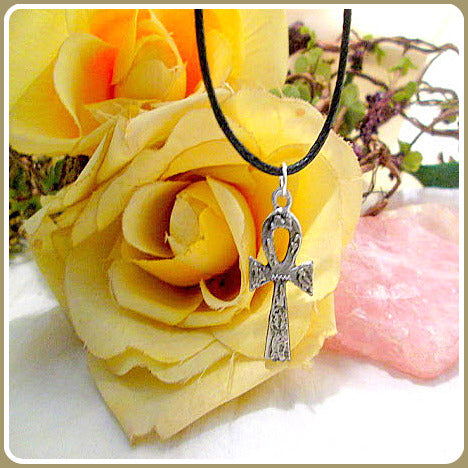 Ankh With Hieroglyphics Amulet & Filigree Jewelry Box Set