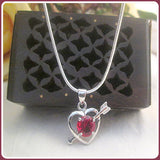 """Passionions of the Heart "" Garnet Necklace"