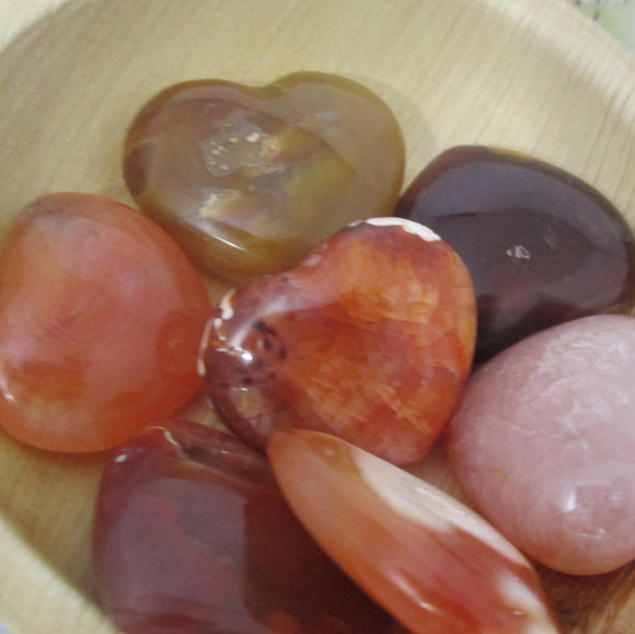 Calming Carnelian Heart Pocket
