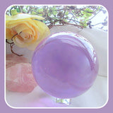 """Stone of Prosperity"" Alexandrite Crystal Ball & Stand Set 85mm"