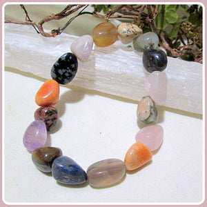"""Sweet Meditations"" Mixed Gemstone Bracelet"
