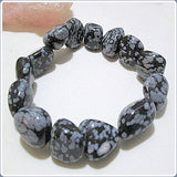"""Stone of Purity"" Snowflake Obsidian Bracelet"