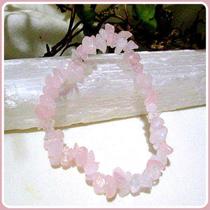 """Unconditional Love"" Rose Quartz Chip Bracelet"